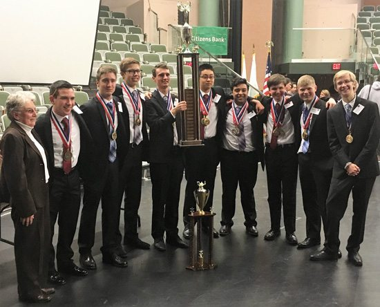 Hendricken's Academic Decathlon wins RI State Title, Moves on to Nationals